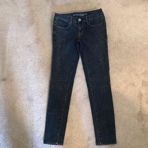American Eagle moto jeans